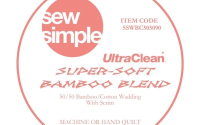 Sew Simple Super-Soft 50/50 Cotton/Bamboo Blend Wadding