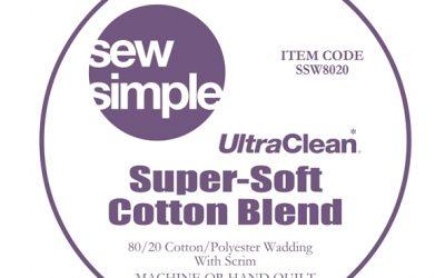 Sew Simple Super-Soft 80/20 Cotton Blend Wadding