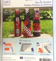 June Tailor Quilt As You Go – Set of 3 Wine Totes (JT-1490)