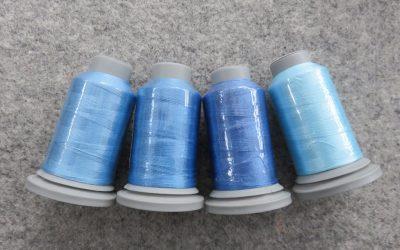 Glide – Pack of 4 Threads – Azure/Hawaiian Blue/Sky/Cloud