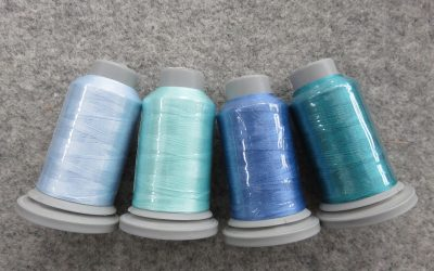 Glide – Pack of 4 Threads – Baby Blue/Magic Mint/Sky/Aquamarine