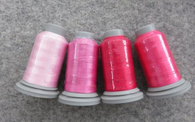 Glide – Pack of 4 Threads – Cotton Candy/Pink/Raspberry/Rhododendron
