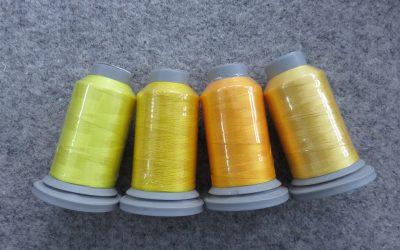 Glide – Pack of 4 Threads – Lemon/Bright Yellow/Mango/Cornflower