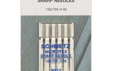 Schmetz Microtex Needles 80/12