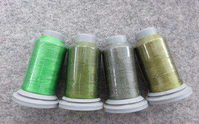 Glide – Pack of 4 Threads – Turf/Aloe/Fern/Lt Olive