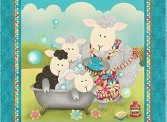 Splish Splash Panel by Henry Glass & Co, inc (Sheep)