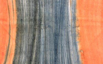 Batik – Orange/Blue Landscape (1755)