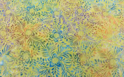 Batik – Mottled Lime Green Leaf Design (2572)