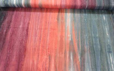 Batik – Blue/Pink/Burgundy Landscape (3026)