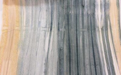 Batik – Beige/Blue/Grey Landscape (3027)