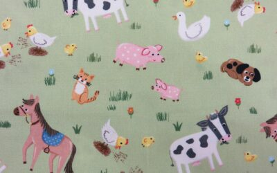 Michael Miller – Barnyard Animals – CX9330 – Green – (3217)