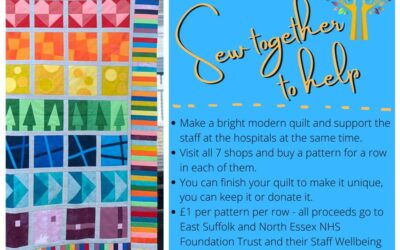 Sew together to help – Blue Row – Kit with Pattern – (STG)