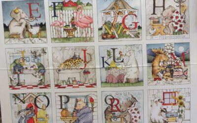 Hungry Animal Alphabet Panel by Riley Blake (HAA)