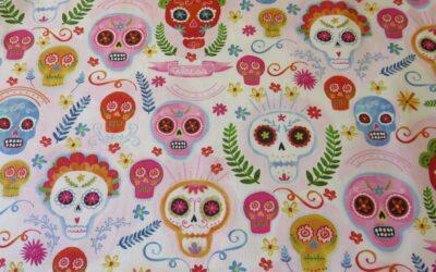 Sugar Skulls by Michael Miller – CX9423-BLUS-D (3332) – Blush