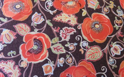 Poppy with a Brown Background by Blank Quilting – (3388)