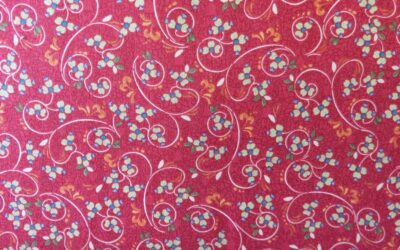 Red patterned coordinating fabric to Poppy range by Blank Quilting – (3389)